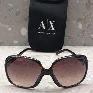 Armani Exchange Tortoiseshell sunglasses with case